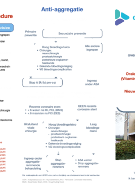 Bridgingschema anti-aggregantia en anticoagulantia